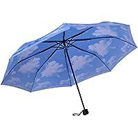 傘防風手動折りたたみ雨の傘ブルースカイアンブレラ