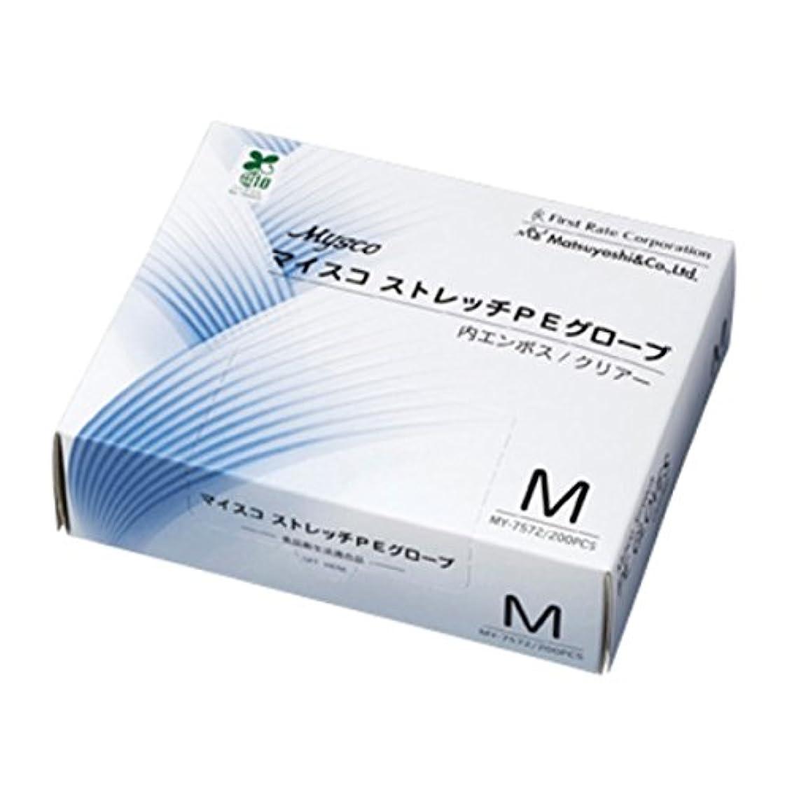 ボット強度用心深い【ケース販売】マイスコ ストレッチPEグローブ M 200枚入×40箱