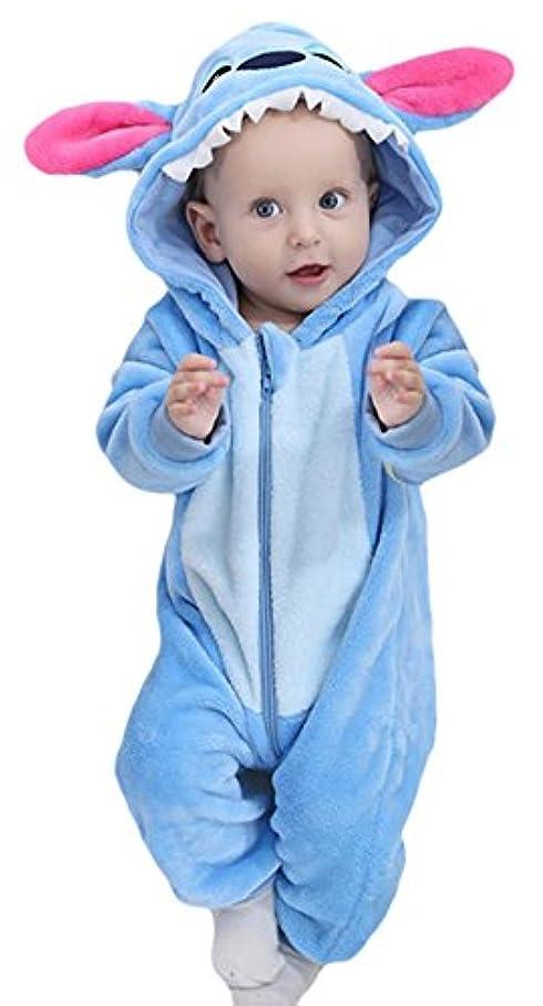 申し立てる道バンド(ラボーグ) La Vogue ベビー キッズ ロンパース カバーオール 着ぐるみ 赤ちゃん アニマル コスチューム 防寒着 子供 男の子 女の子 かわいい 出産祝い ブルー 80