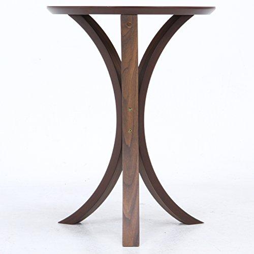 不二貿易 サイドテーブル 幅40×奥行40×高さ54cm ダークブラウン 11042
