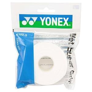 ヨネックス(YONEX) テニス バドミントン グリップテープ ウェットスーパーグリップ 詰め替え用(5本入り) ホワイト AC102-5