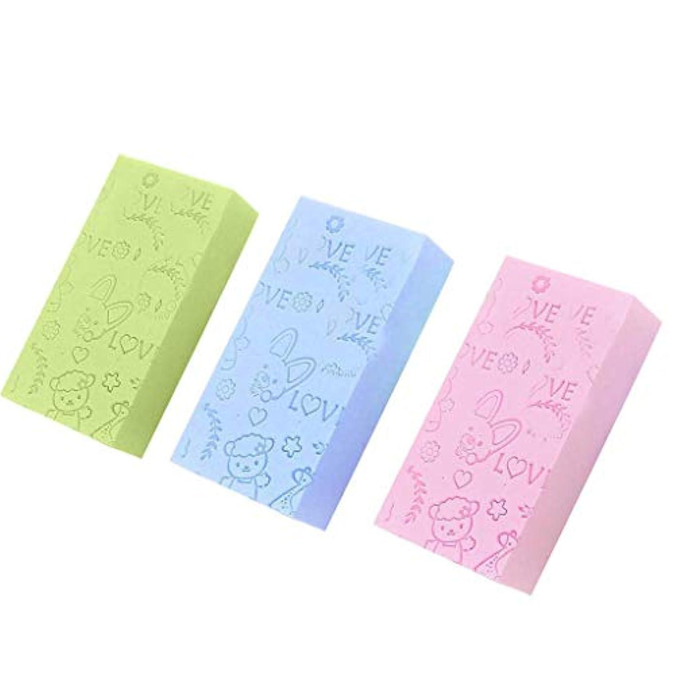 聞きます一部保証ZooArts 垢すりスポンジ ボディスポンジ ベビー 3枚セット シャワースポンジ 毛穴清潔 角質除去 血行促進 柔らかい 肌に優しい 入浴用品 バス用品 お風呂用 子供/大人兼用 Ultra Soft Exfoliating Sponge Shower Brush
