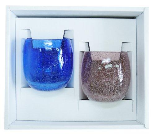 泡たるグラス2個ギフトセット(青・紫) 【感謝をこめて沖縄伝...
