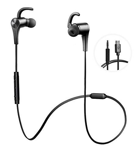 有線でも使えるiphone対応Bluetoothイヤホン(JPRiDE) JPA2 Live - 2wayブルートゥース イヤホン[高音質AAC aptXコーデック 対応]マグネット搭載IPX4防水 防塵 ワイヤレスイヤホンCVC6.0ノイズキャンセリング マイク内蔵 ハンズフリー通話(AAC APT-X両対応 黒)