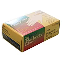 Disposable Latex Gloves Powdered Size Large,100 Count [並行輸入品]