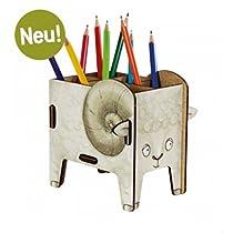 エコ廃材を利用した、ドイツのデザインブランド♪ プレゼントに最適♪おしゃれな文房具♪ かわいい羊 ペン立て♪ 白色 レターケース おもちゃ収納