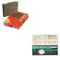 kitqua69998unv14115–Valueキット–品質公園従業員レコードフォルダ( qua69998)とユニバーサルHangingファイルフォルダ( unv14115)