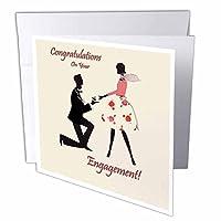 3D ローズ グリーティングカード 封筒付き 1セット Individual Greeting Card