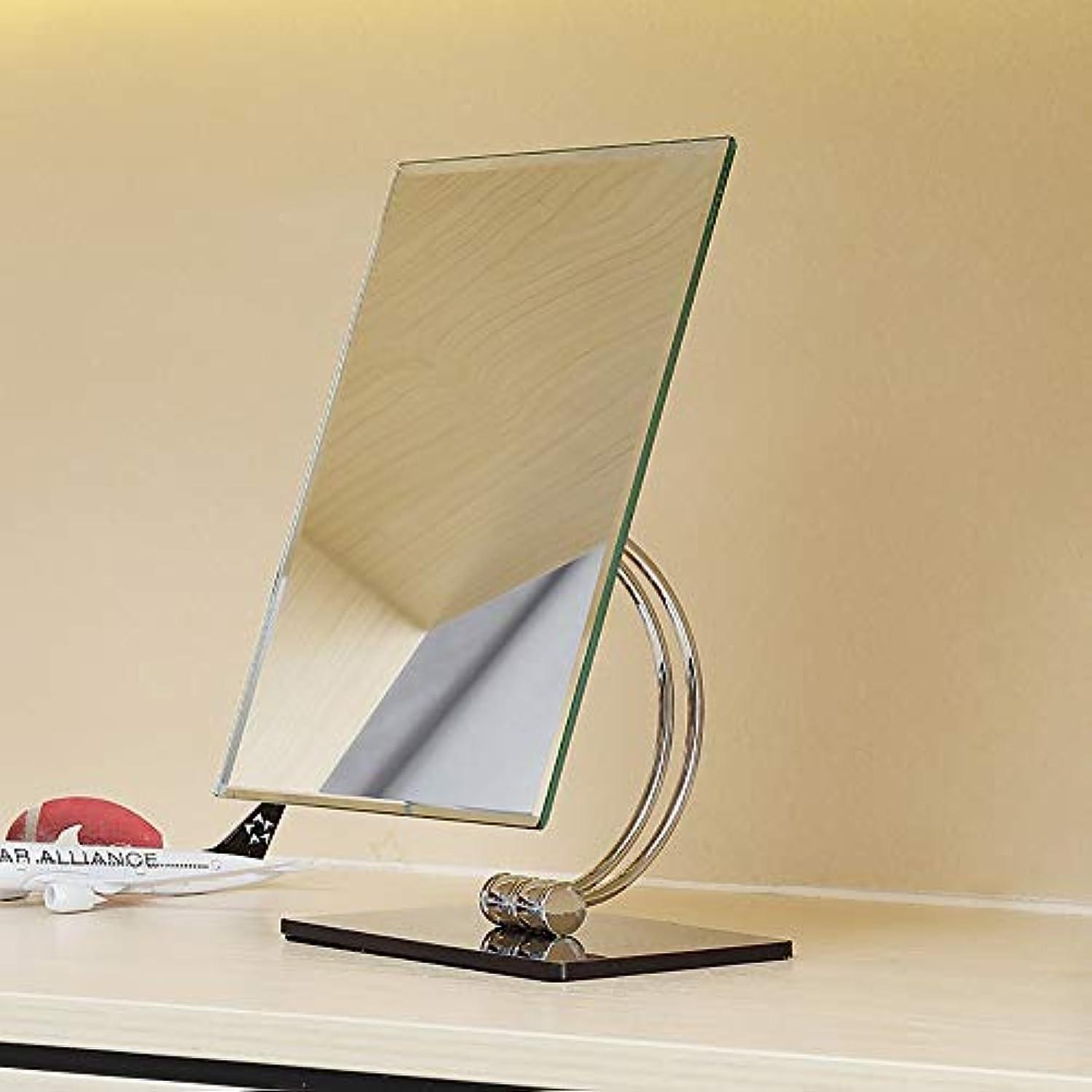 省略する心理的本部流行の スクエア片面HDステンレススチールシルバーミラー+ ABSプラスチックシェル化粧鏡ホームバニティミラーカウンターミラー