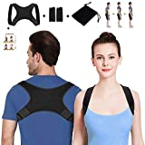 SETH - Posture Corrector for Men and Women-Back Stretcher|Upper Back Brace Clavicle Support Device for Thoracic Kyphosis and Shoulder-Neck Pain Relief-Adjustable Brace-Posture Support - FDA Approved