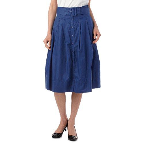 (ミニマム)MINIMUM ベルト付きフレアスカート ブルー(092) 01(S)