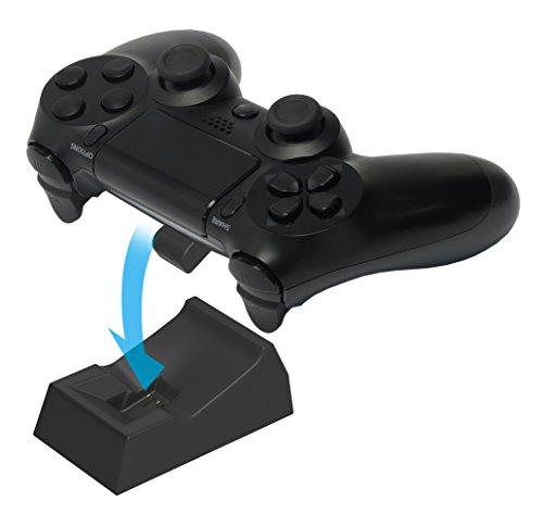 【PS4対応】置くだけ充電スタンド1台用 for ワイヤレスコントローラー DUALSHOCK4 ブラック