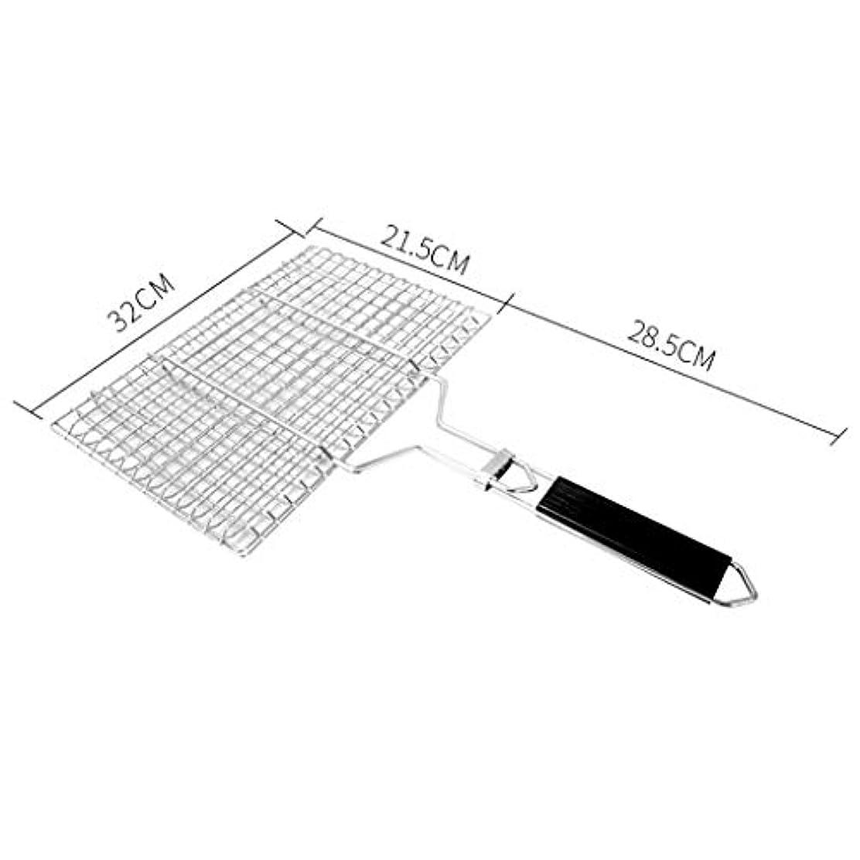 ランプつぶやき暗唱するステンレス鋼焼き網純ローストチキンウイングバーベキュークリップ商業大中小バーベキューツール用品 (サイズ さいず : 50*32CM)