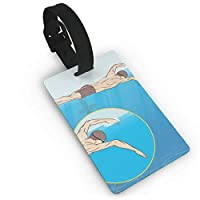 zhang xuejubkmn 荷物タグ Luggage Tags For Suitcases SWIMMING GUIDE Travel Luggage Suitcase Labels ID Tags Business Card Holder