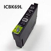 EPSON互換インクカートリッジIC69シリーズ4色単品ICBK69L ICC69 ICM69 ICY69 残量表示ICチップ機能付き (ICBK69L(ブラック))
