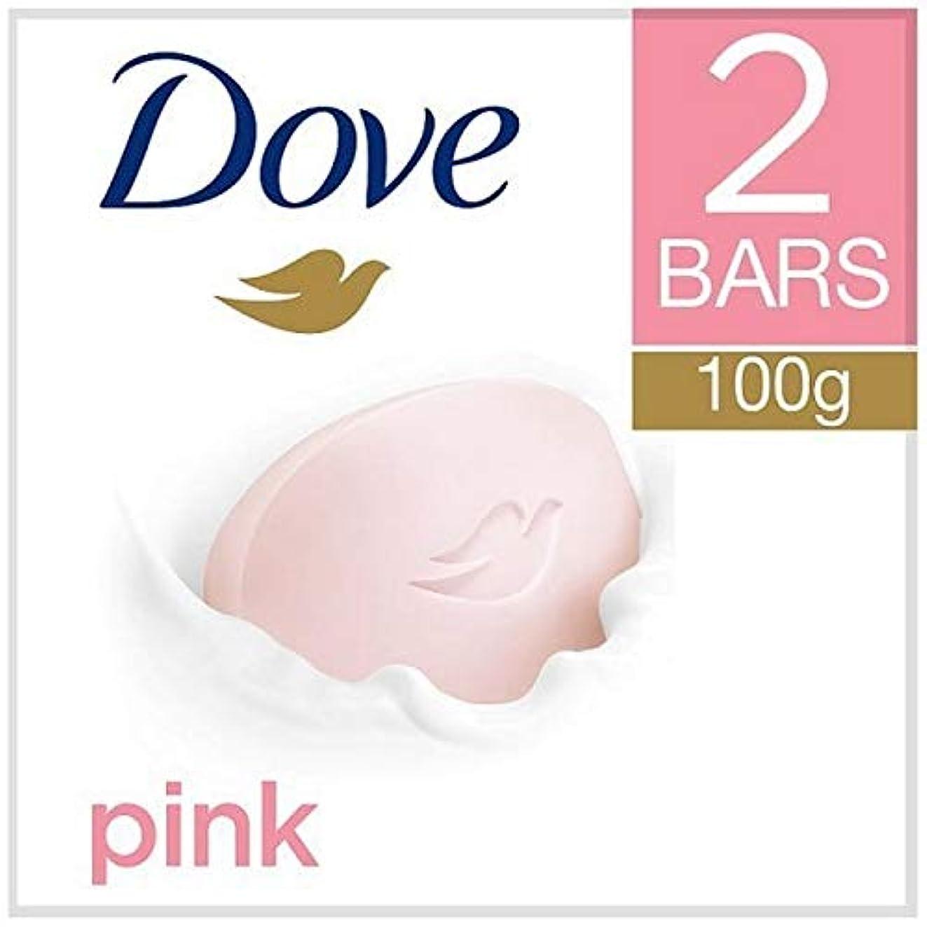 現在不良品くさび[Dove ] 鳩ピンク美容クリームバー2X100G - Dove Pink Beauty Cream Bar 2x100g [並行輸入品]
