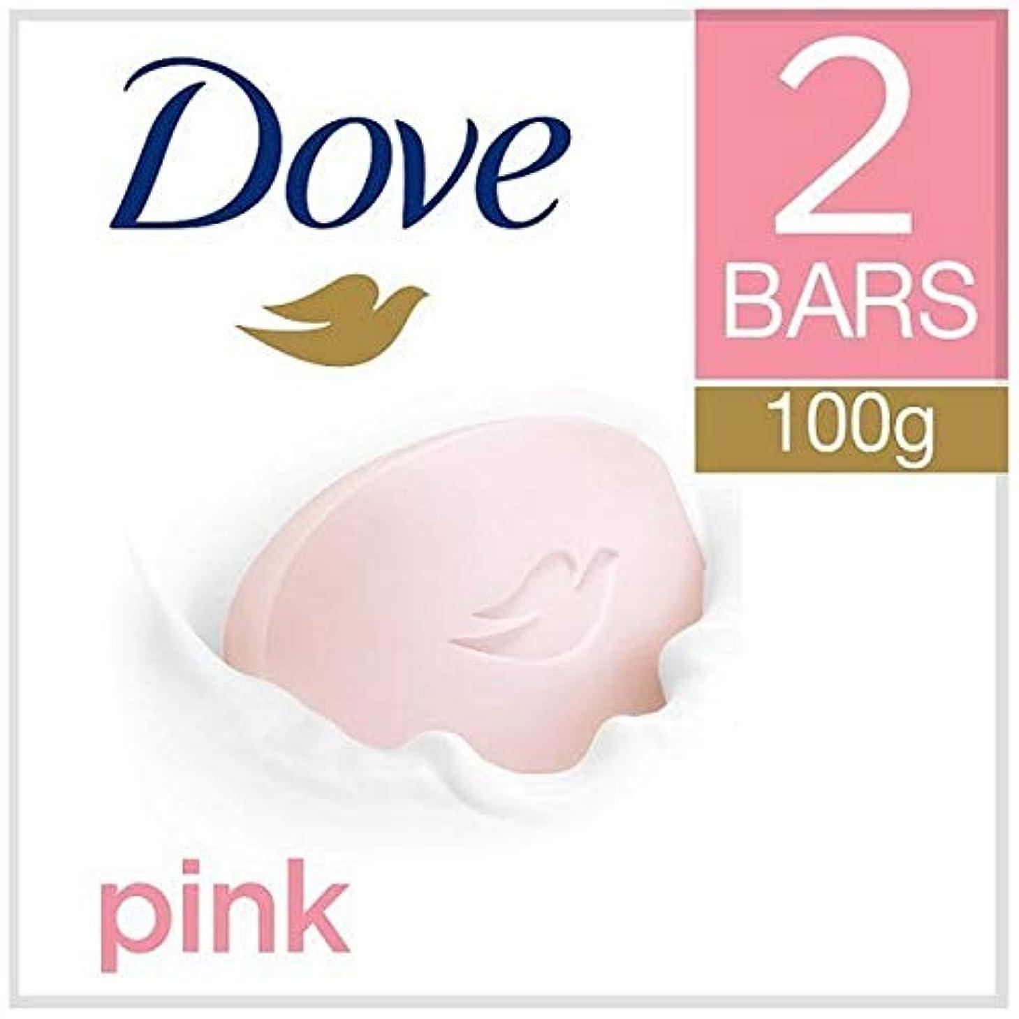 信号薬局領域[Dove ] 鳩ピンク美容クリームバー2X100G - Dove Pink Beauty Cream Bar 2x100g [並行輸入品]
