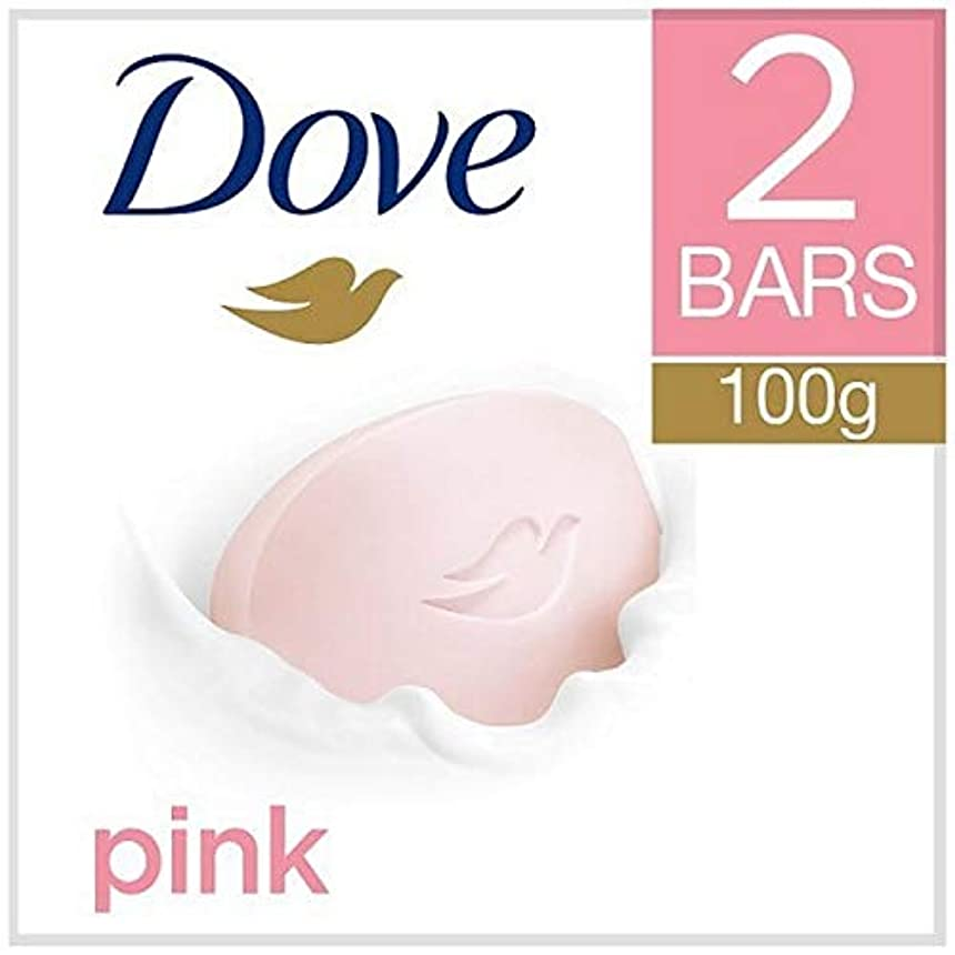 南東壊すクレデンシャル[Dove ] 鳩ピンク美容クリームバー2X100G - Dove Pink Beauty Cream Bar 2x100g [並行輸入品]