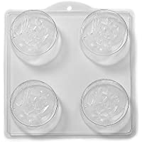 4 Cavity Man In The Moon With Stars Soap/Bath Bomb Mould Mold L42 x 10