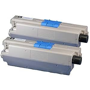 沖データ(OKI) TNR-C4JK1x2 ブラック2個セット リサイクルトナーカートリッジ インクのチップスオリジナル製品