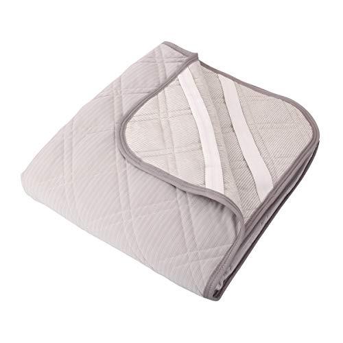 AIDON 敷きパッド ひんやり 接触冷感 ベッドパッド マット シーツ 丸洗いOK 防ダニ 吸湿速乾 抗菌 防臭 120*200cm グレー