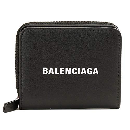 [バレンシアガ] 2つ折り財布 レディース メンズ BALENCIAGA エブリディ コンパクトサイズ 551933 DLQ4N 1000 ブラック [並行輸入品]