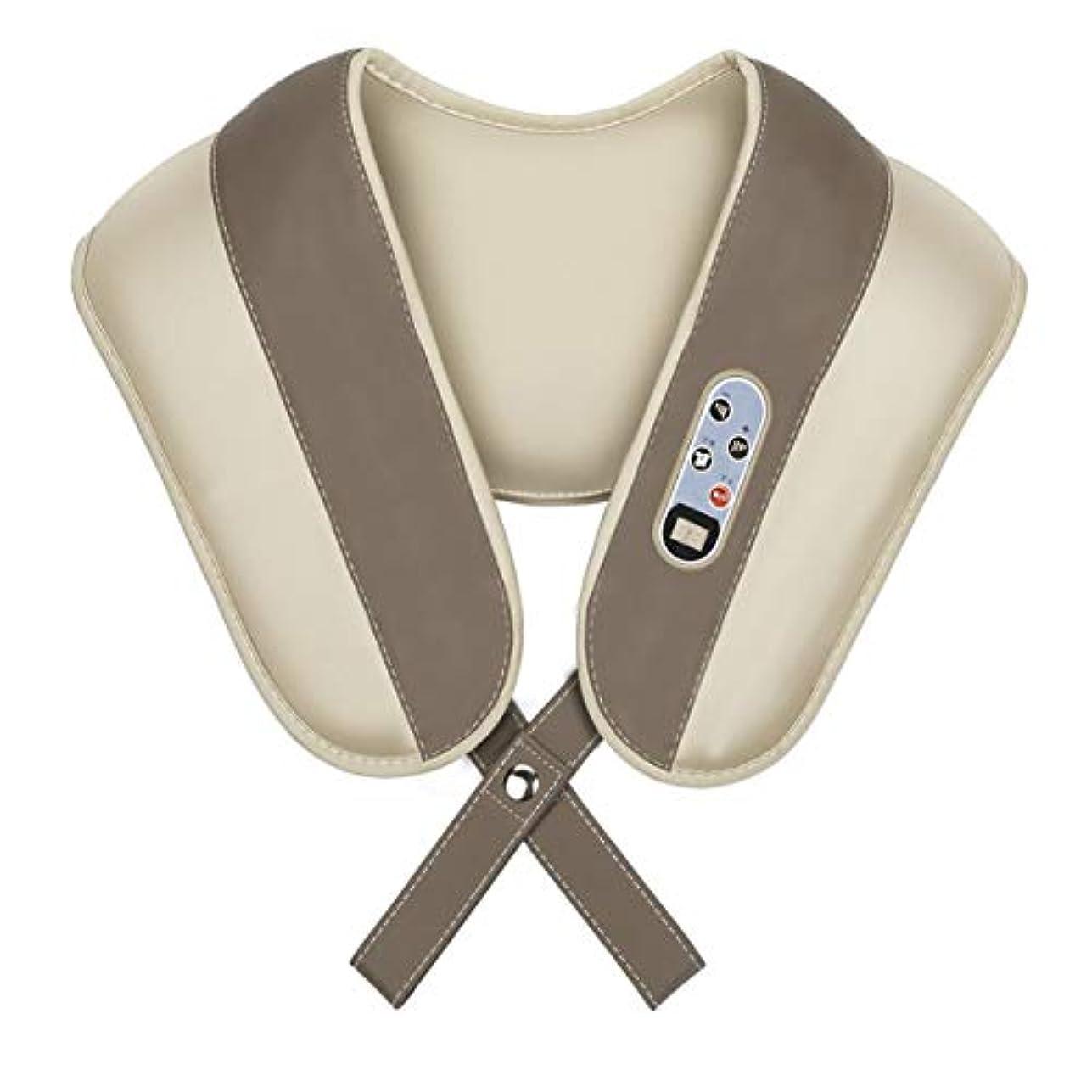 ここに考えるハッチIntercorey多機能頸椎マッサージャーホーム電気ギフト肩と首Beatられたマッサージショール