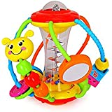 Konig Kids Baby Sensory Discover Shake & Spin Activity Ball Learning Toy Multi-Color for Baby & Toddler 3 Months +