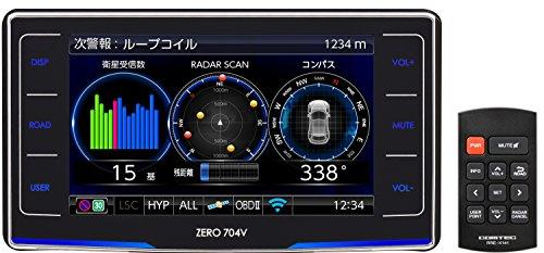 コムテック レーダー探知機 ZERO 704V 無料データ更新 移動式小型オービスダブル対応/ゾーン30対応 OBD2接...