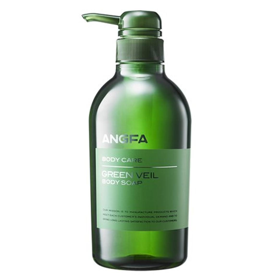 楕円形ヒップ抽象化アンファー (ANGFA) グリーンベール 薬用ボディソープ 500ml グリーンフローラル [乾燥?保湿] かゆみ肌