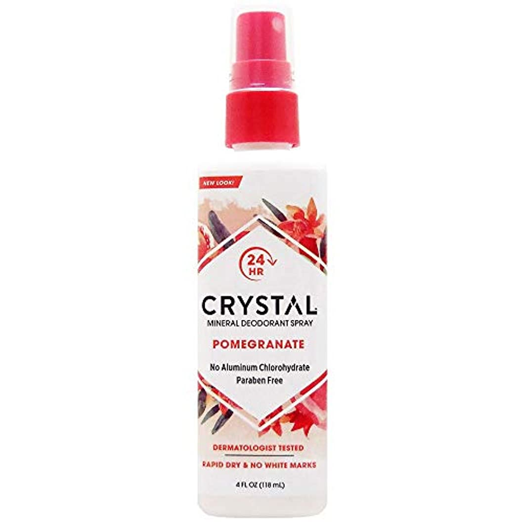 オーバーコート準備解決するCrystal Essence 486522 Crystal Essence Mineral Deodorant Body Spray Pomegranate - 4 fl oz