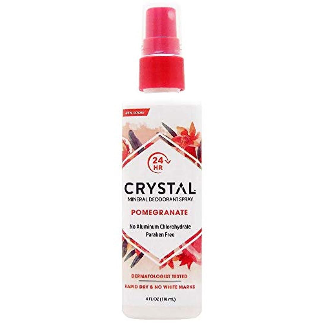 曖昧な化石ミットCrystal Essence 486522 Crystal Essence Mineral Deodorant Body Spray Pomegranate - 4 fl oz