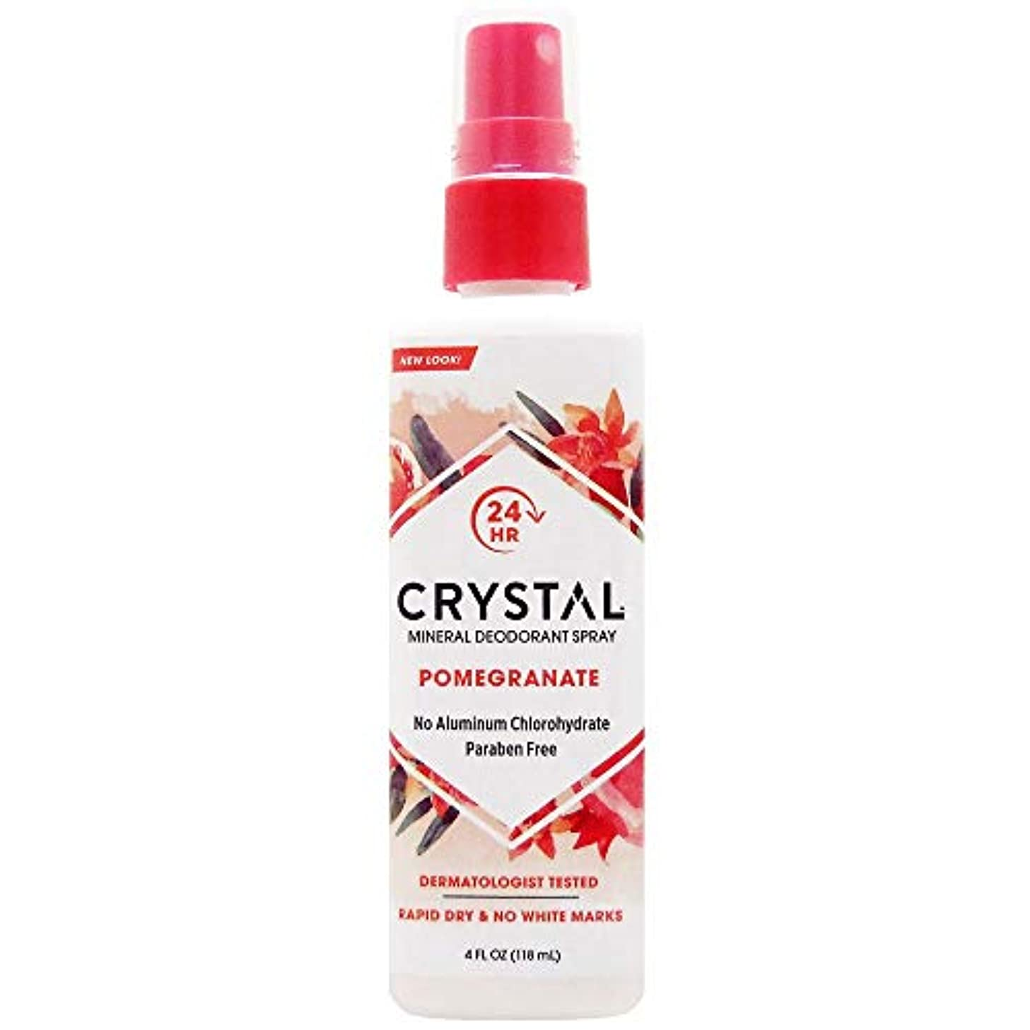 火山学統合シルエットCrystal Essence 486522 Crystal Essence Mineral Deodorant Body Spray Pomegranate - 4 fl oz