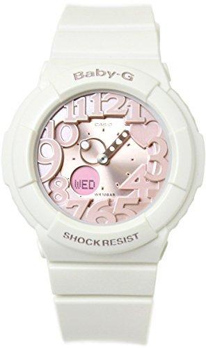 カシオ ベビーG ネオンダイアルシリーズ 並行輸入品 Baby-G CASIO 海外モデル レディース 腕時計 BGA-131-7B2DR ホワイト×ピン.