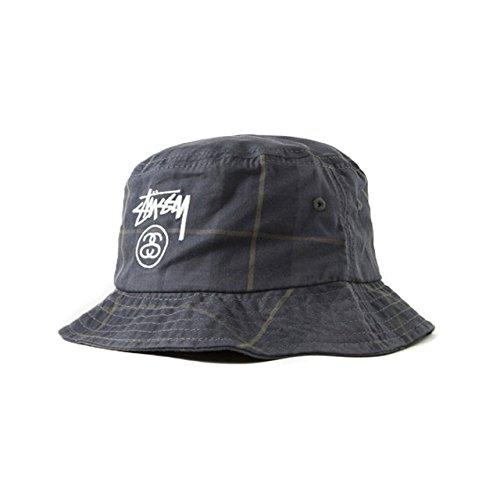 (ステューシー) STUSSY Stock Lock Plaid Bucket Hat 132705 S/M ブラック ステューシー バケットハット メンズ レディース ストックロック バケットハット [並行輸入品]