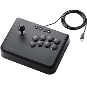 ELECOM PS3 USBアーケードスティック 10ボタン 連射機能搭載 ブラック JC-GMAS01BK