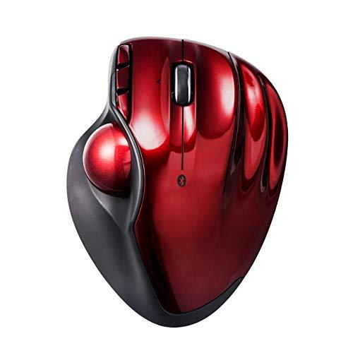 サンワダイレクト ワイヤレストラックボール Bluetooth4.0 エルゴノミクス レーザーセンサー 400-MA099R B07K1W2DHJ 1枚目