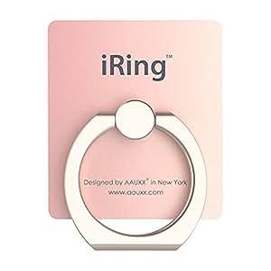 iRing (アイリング) 正規品 スマホリング 落下防止 スマホスタンド 車載ホルダー iPhone スマホ タブレット 3R SYSTEMS ローズゴールド
