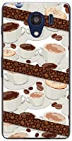液晶保護フィルム 付 ディグノ ジー [601kc ] digno g ハードカバー ケース コーヒーとコーヒー豆 SoftBank スマホケース ソフトバンク スマホカバー デザインケース