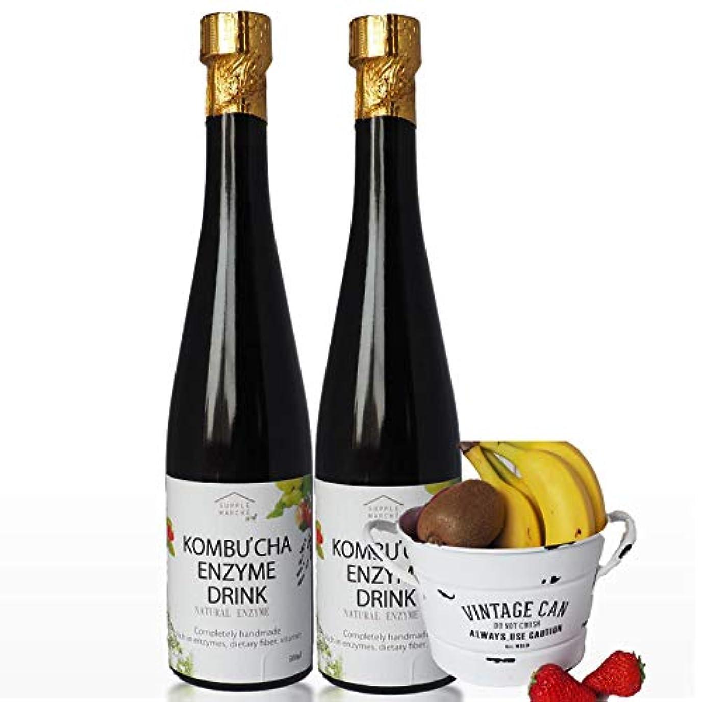現実同意ロマンチック液糖不使用 濃~い コンブチャエンザイムドリンク 500ml×2本 送料無料 クレンズライフ ダイエット コンブチャクレンズ kombucha