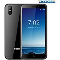 SIMフリースマートフォン, DOOGEE X50-5.0インチ 3G(au不可) クアッドコアMT6580M Android 8.1 デュアルカメラ 1GB RAM+8GB ROM 携帯電話・スマートフォン本体 黒 一年保証