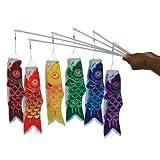 In the Breeze 6-Pack Koi Fish Wand, 12-Inch, Red/Orange/Yellow/Green/Blue/Purple おもちゃ [並行輸入品]