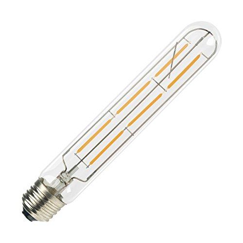 Muslish LED電球 シャンデリア用 LED フィラメント電球 E26 口金 6W (60W形相当) 電球色 2700K クリアガラス (E26 T30, 電球色)