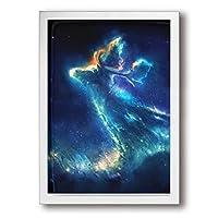 ホワイトサン フォトフレーム A4 フレーム 星雲 ムース 壁掛け 枠付き ポスター アートフレーム パネル