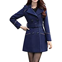 BoodTag Women Winter Overcoat Collared Casual Slim Casacos Jacket Autumn Winter