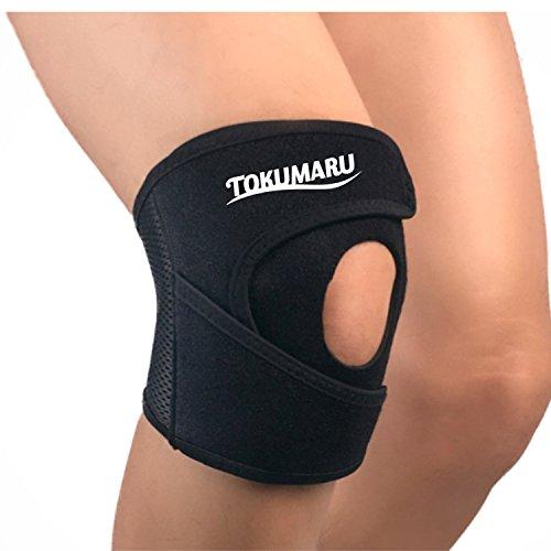 【TOKUMARU】 膝 サポーター 膝 バンド 保温 薄手 ずれない 固定 スポーツ 膝保護 靭帯損傷 膝痛 シンプル 膝皿固定 左右兼用 男女兼用 フリーサイズ (フリーサイズ)