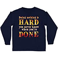 lepni.me Kids T-Shirt Doing Nothing is Hard, Funny Quote, Lazy Saying