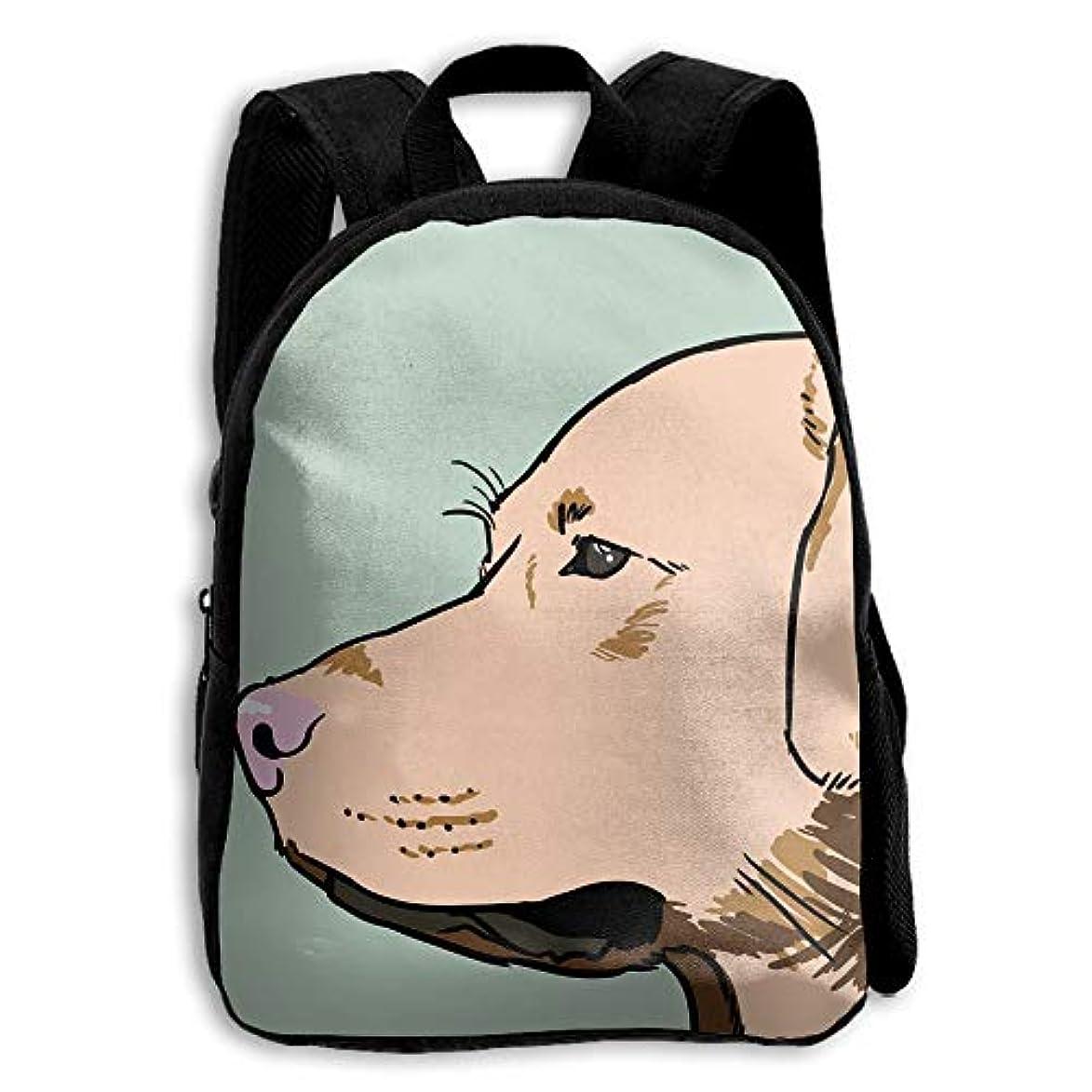 有彩色の強います疎外するキッズ バックパック 子供用 リュックサック 犬プリント ショルダー デイパック アウトドア 男の子 女の子 通学 旅行 遠足