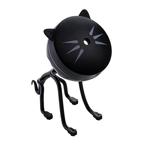 加湿器 卓上加湿器 超音波式 カワイイ猫 萌えニャンコ USB 超大容量 LED照明 噴霧調節可能 ...