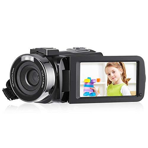 ACEHE FHDビデオカメラ デジタルビデオカメラ 2400万画素 16倍デジタルズーム 3インチ液晶ディスプレイ 270度回転スクリーン SDカード(最大32GB) アダプターPSE認証 日本語説明書付き